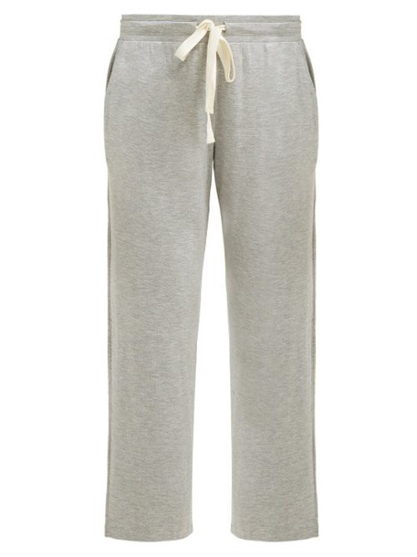 Skin - Leora Drawstring Waist Cropped Pyjama Trousers - Womens - Light Grey