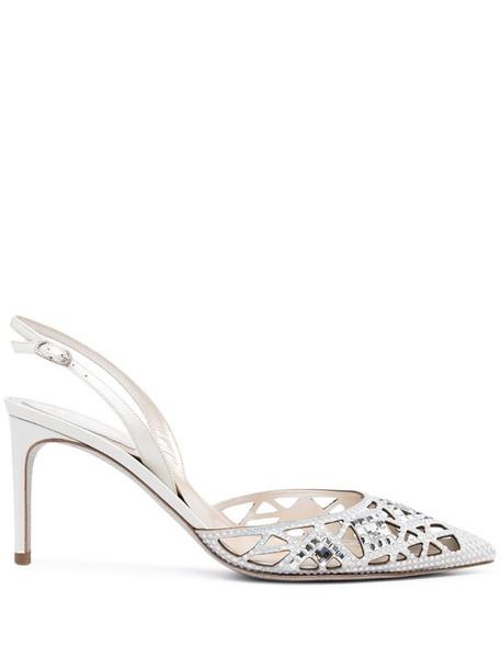 René Caovilla Isabel sandals in silver