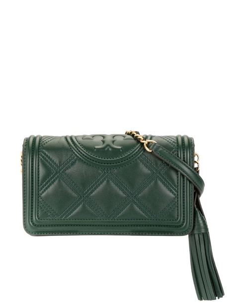 Tory Burch Fleming leather crossbody bag in green