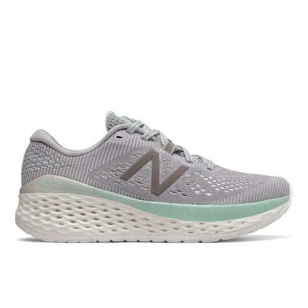 New Balance Fresh Foam More Women's Neutral Cushioned Shoes - Grey/Off White/Blue (WMORRS)