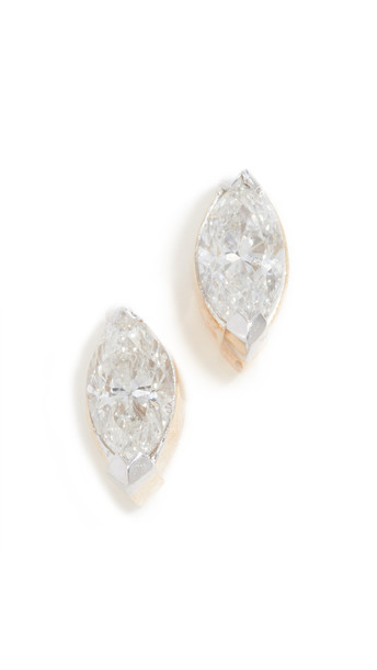 Adina Reyter 14k Single Marquise Post Earrings in gold / yellow