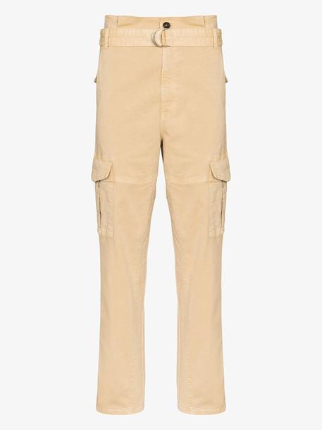 FRAME Safari high-rise cargo trousers in brown