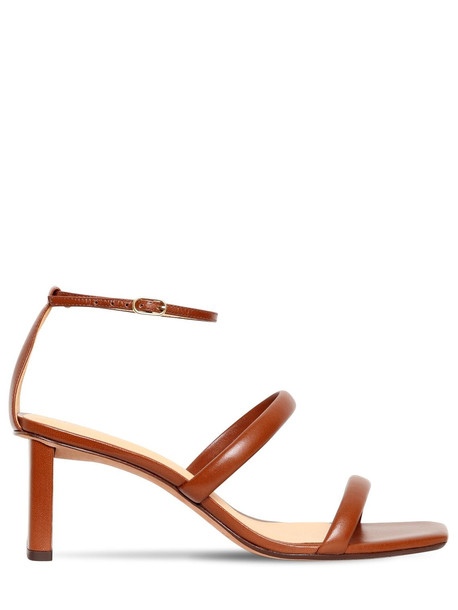ALEXANDRE BIRMAN 50mm Leather Sandals in tan