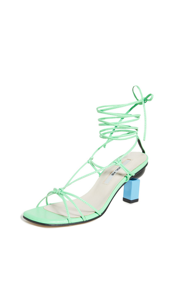 Yuul Yie Trophy Lace-Up Sandals in green