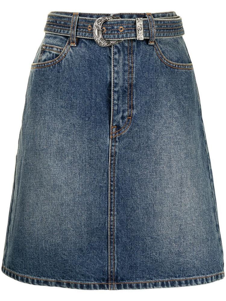 BAPY BY *A BATHING APE® BAPY BY *A BATHING APE® belted denim skirt - Blue