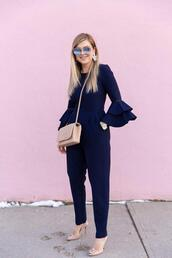 suburban faux-pas,blogger,sunglasses,jumpsuit,bag,shoes,jewels