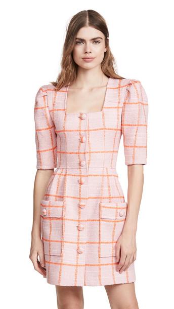 SMYTHE Boucle Mini Dress in pink