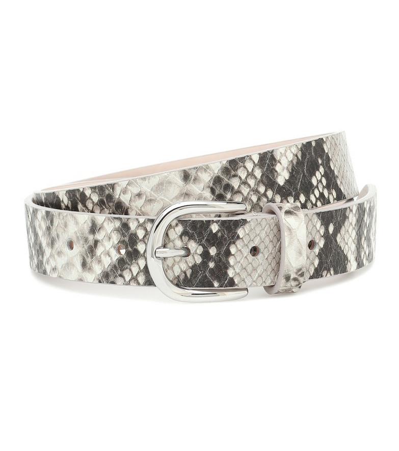 Isabel Marant Zap snake-effect leather belt in grey