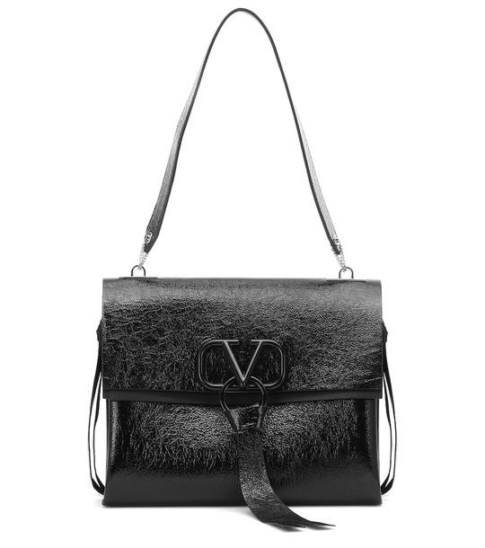 Valentino Garavani VRING leather shoulder bag in black