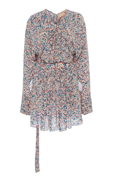 N°21 Floral-Print Belted Cotton Dress Size: 38