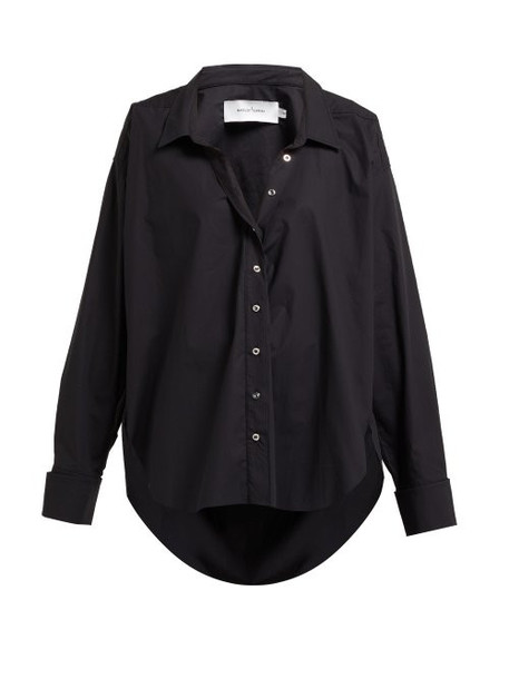 Marques'almeida - Ring Detail Cotton Shirt - Womens - Black