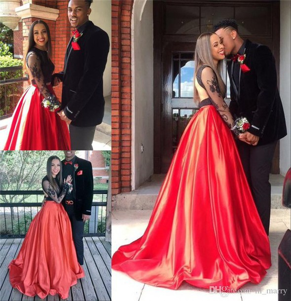 dress two pieces prom dresses couple fashion prom dresses 2k16 prom dresses african prom dresses black girls prom dresses long sleeve prom dress girls graduation party gowns formal evening dresses long sleeves evening dresses arabic evening dresses
