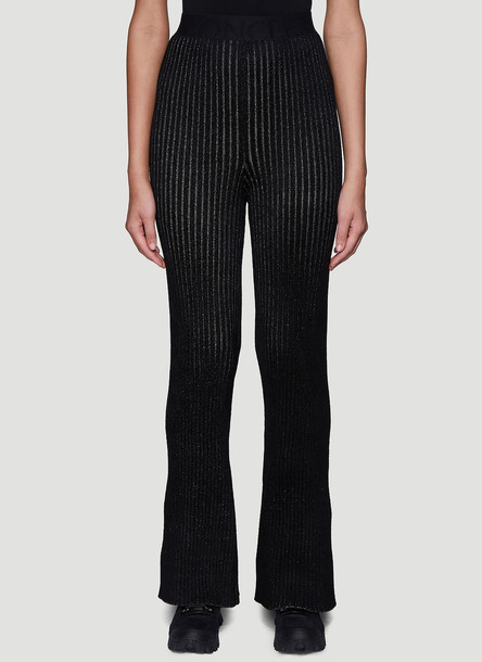 2 MONCLER 1952 Ribbed Knit Pants in Black size S