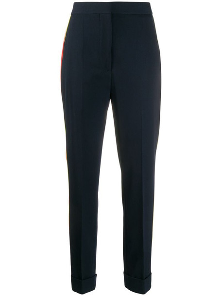Stella McCartney side-stripe tailored trousers in blue