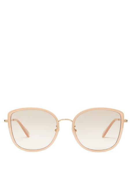 Gucci - Oversized Cat Eye Acetate Sunglasses - Womens - Light Pink