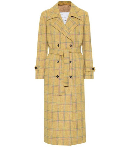 Giuliva Heritage Collection The Christie wool trench coat in yellow