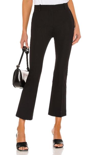 FRAME Le Crop Mini Boot Trouser in Black in noir
