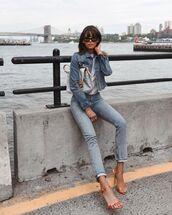 shoes,sandals,sandal heels,denim,jeans,jacket