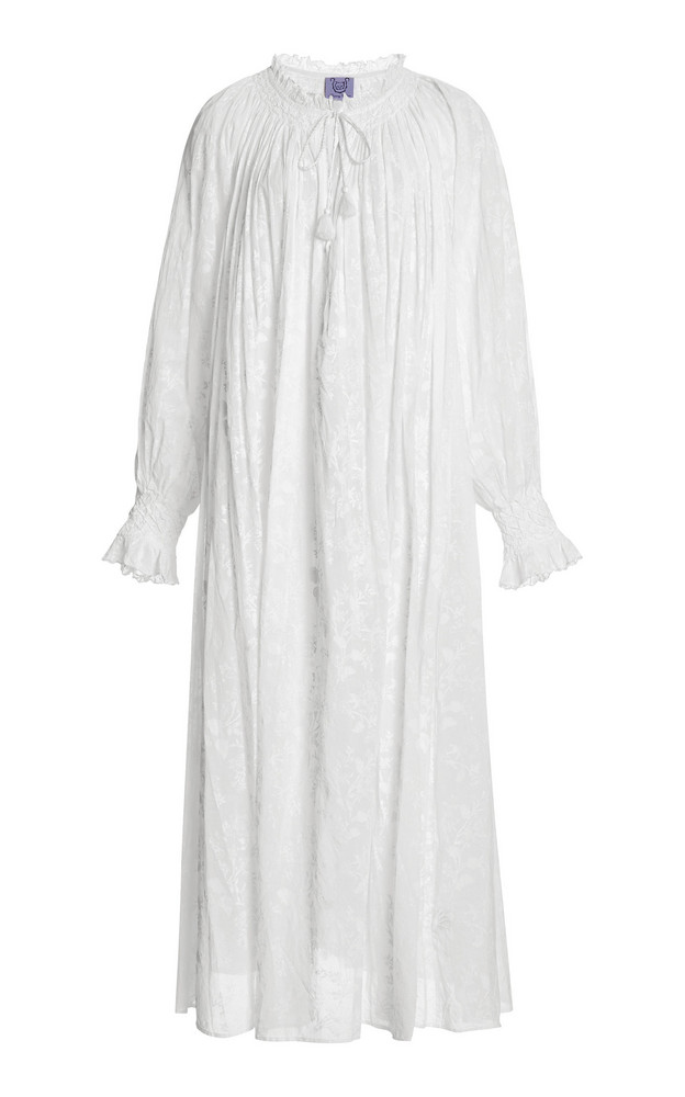 Thierry Colson Vladia Floral-Print Cotton-Gauze Maxi Dress in white