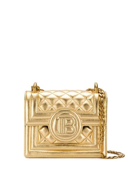 Balmain B-Bag 18 quilted crossbody bag - Gold