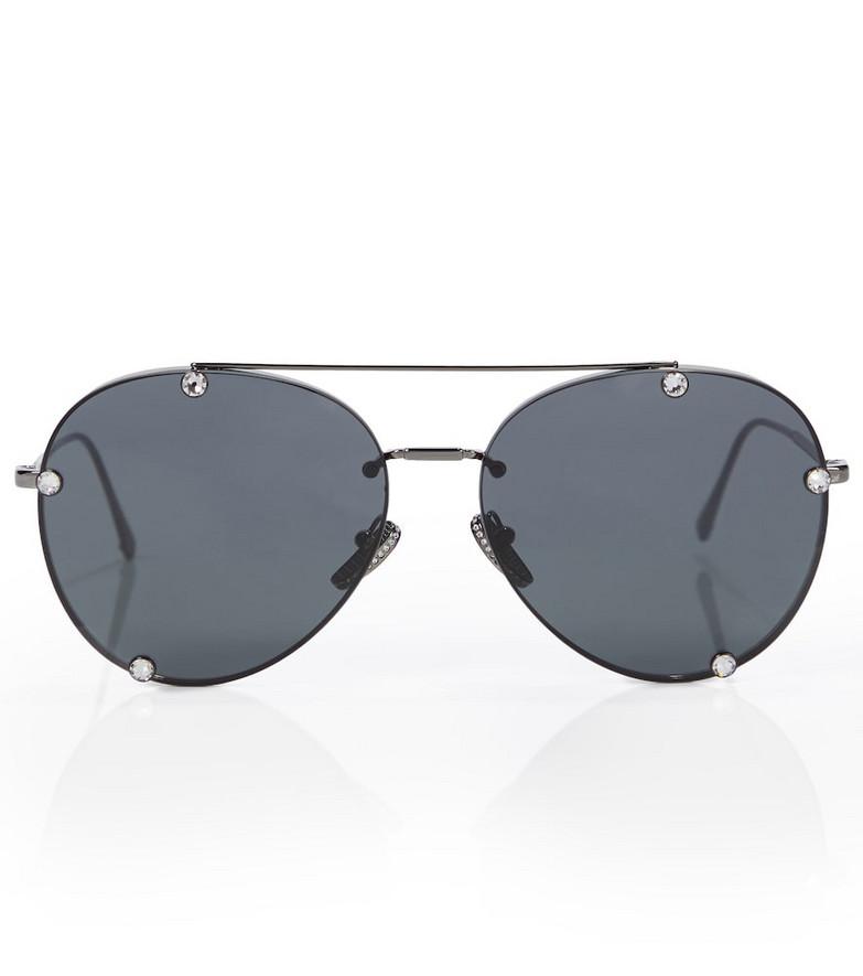 Valentino embellished aviator sunglasses in grey