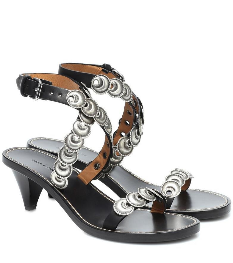 Isabel Marant Jieva embellished leather sandals in black