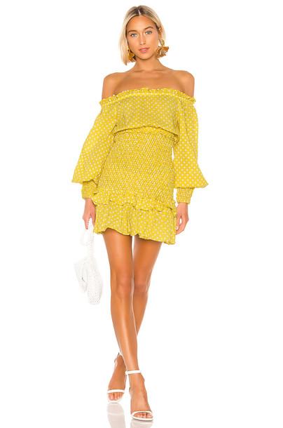 Alexis Marilena Dress in yellow