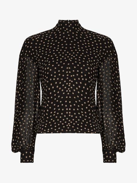 Ganni Polka dot print blouse