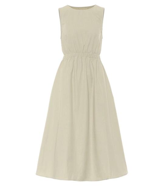 Frankie Shop Erica cotton midi dress in green