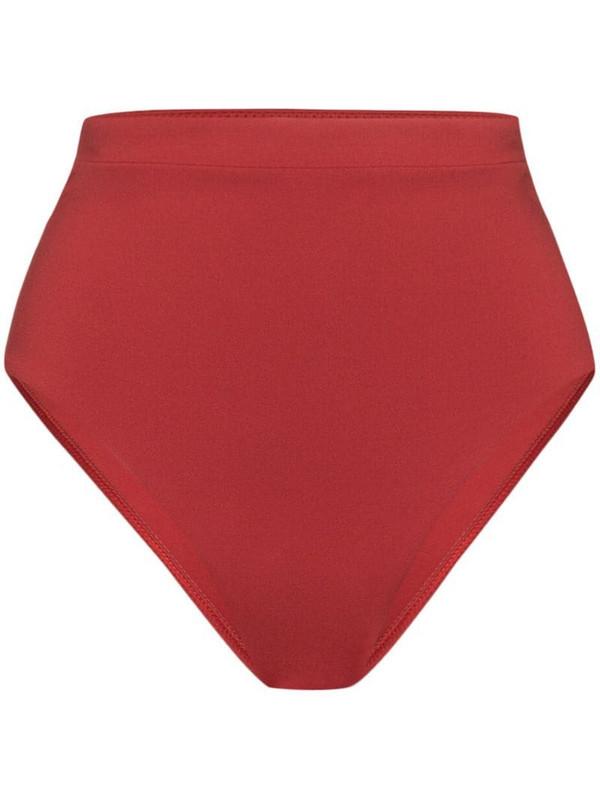 Bondi Born Tatiana high waist bikini bottoms in red