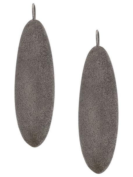 Brunello Cucinelli pebble earrings in silver