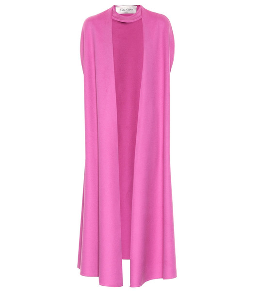 Valentino Wool and cashmere cape in pink