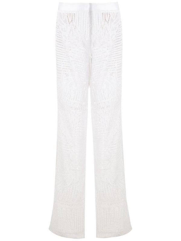 Martha Medeiros Lina lace top in white