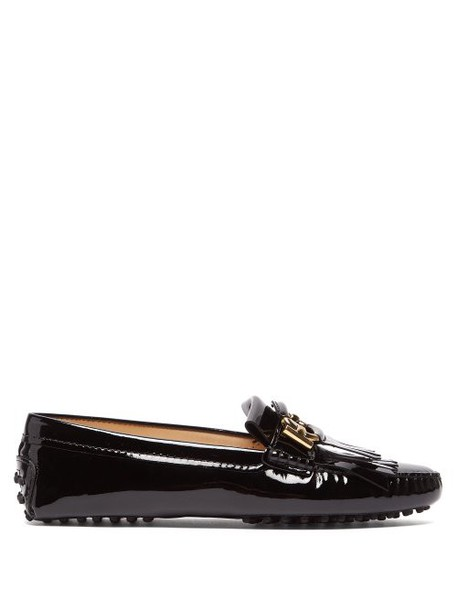 Tod's - Gommino Patent Leather Loafers - Womens - Black