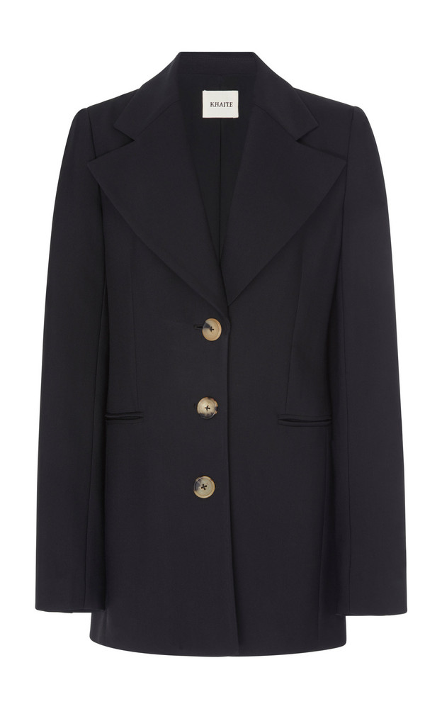 Khaite Mckenna Cady Long Blazer in black