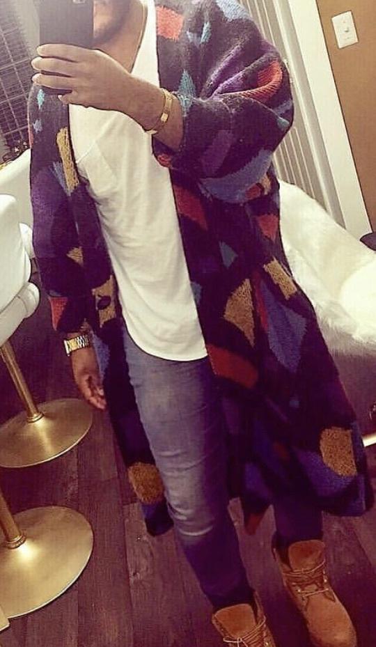 cardigan multicolor coat jacket long