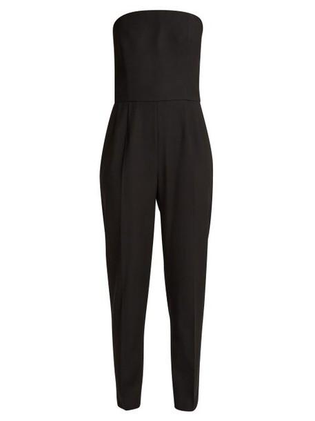 Pallas X Claire Thomson-jonville - Divine Wool Crepe Tuxedo Jumpsuit - Womens - Black