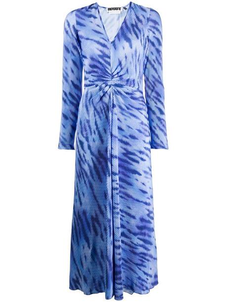 ROTATE tie-dye print dress in blue