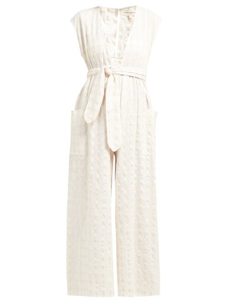 Mara Hoffman - Whitney Cotton Gingham Jumpsuit - Womens - Ivory