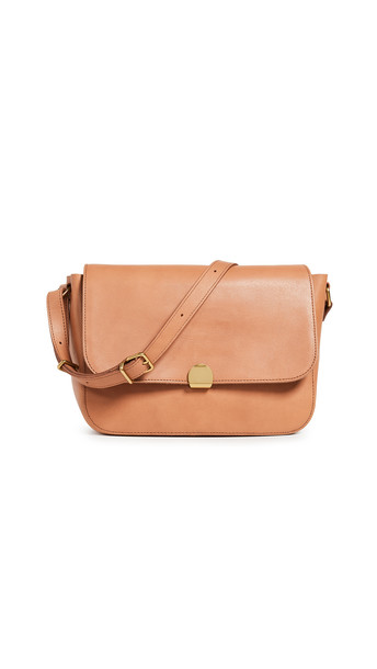 Madewell Core Flap Crossbody in camel