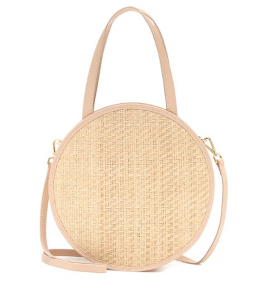 Kayu Carrie straw and leather tote in neutrals