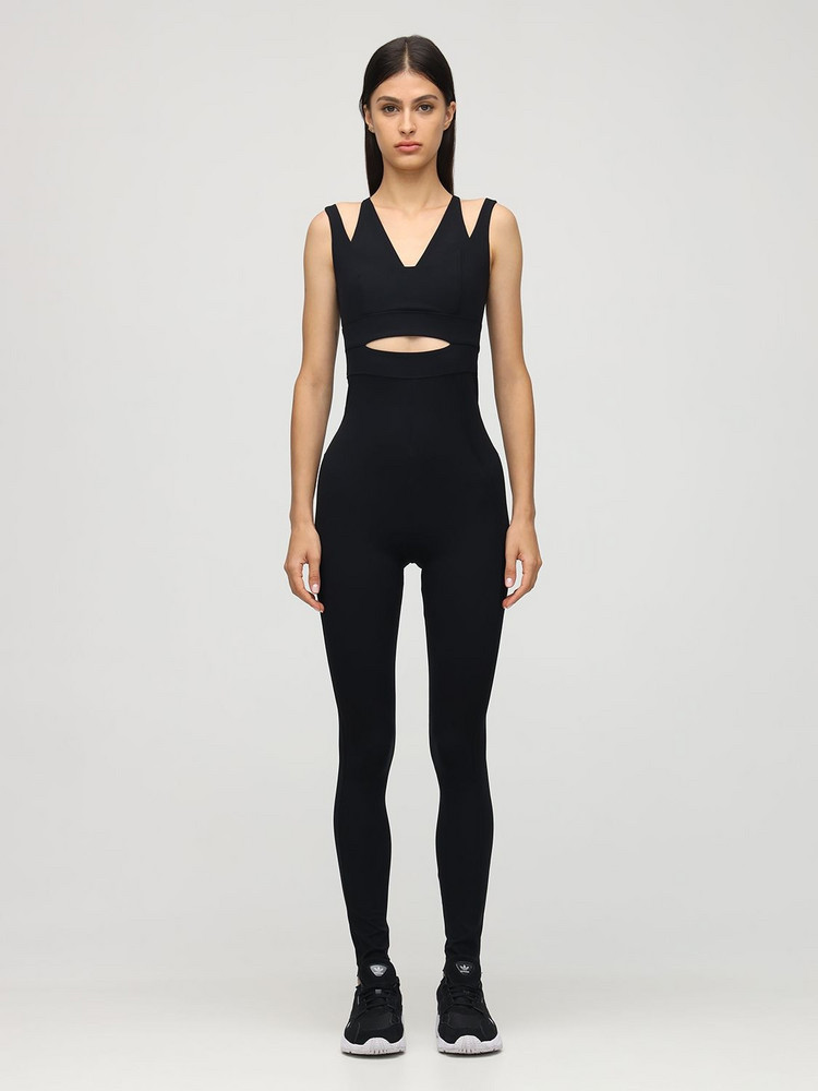 NO KA'OI Outline Cutout Jumpsuit in black