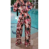 jumpsuit,flowers,fall outfits,elegant