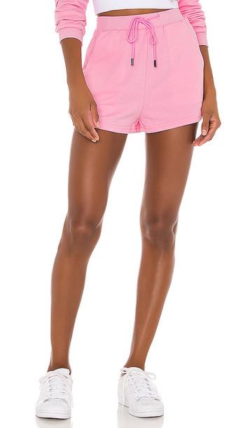 superdown Danna Fleece Shorts in Pink