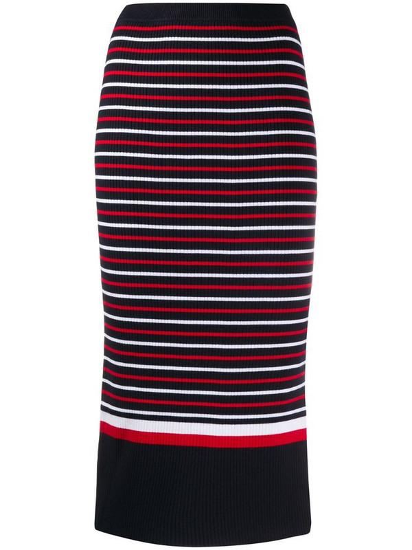 Tommy Hilfiger striped midi skirt in blue