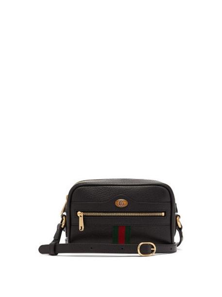 Gucci - Ophidia Mini Leather Cross Body Bag - Womens - Black