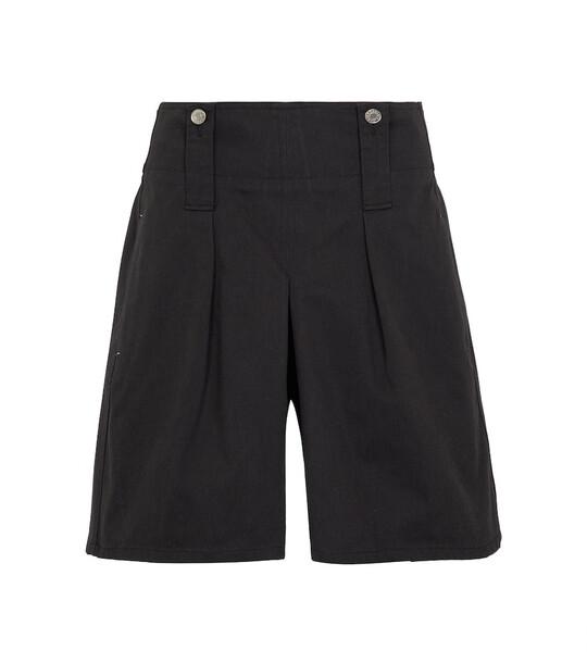 Isabel Marant Dicochia wide-leg cotton shorts in black