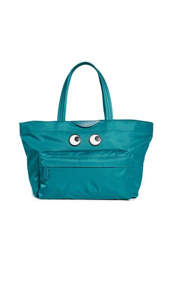 Anya Hindmarch Eyes Tote Bag in petrol