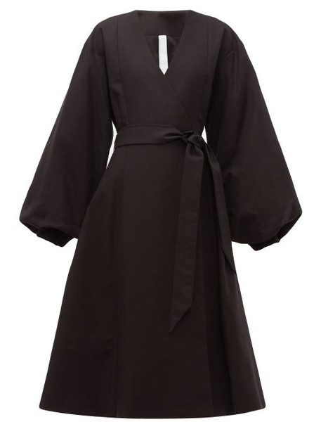 Merlette - Sian Cotton Wrap Coat - Womens - Black