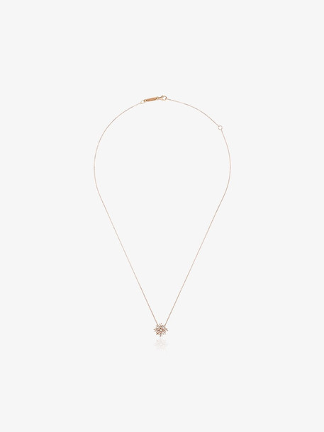 Suzanne Kalan 18K rose gold mini flower diamond necklace